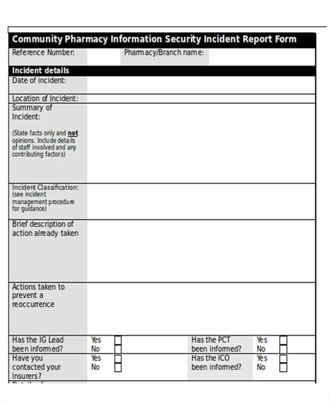 it security report template 25 incident report templates in word free premium