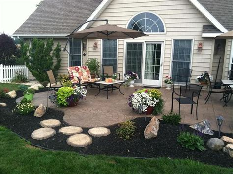 patio landscaping designs pin by erin leith bailey on patio and deck ideas