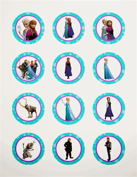 printable frozen characters frozen free printable toppers oh my fiesta in english