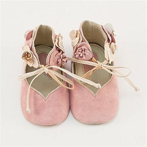 light pink baby shoes light pink leather baby shoes with flowers