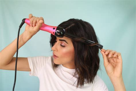 best curling wand for lob get the look messy waves for short hair sazan