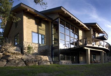 Modern Rustic Homes by Beautiful Mountain Home Made Quot Modern Quot With Cable Railings