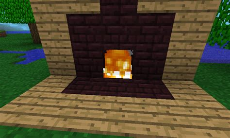 How To Make A Fireplace In Minecraft Pe by Minecraft Pe Fireplace Www Pixshark Images