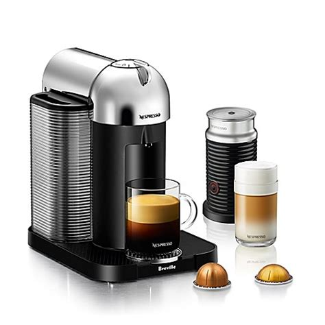 bed bath and beyond breville nespresso 174 by breville vertuoline with aeroccino coffee