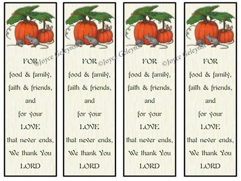 Printable Bookmarks Thanksgiving Christian Prayer Of Thanks Thanksgiving Prayer Template