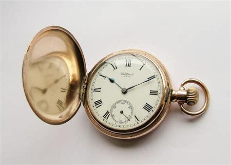 vintage 1919 waltham traveler gold plated