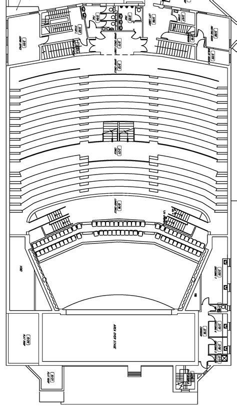 floor plan of auditorium theatre conference venue hire in northton the deco