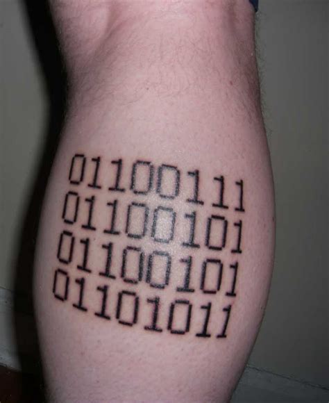 binary code tattoo awesome tattoos 40 of the best tattoos