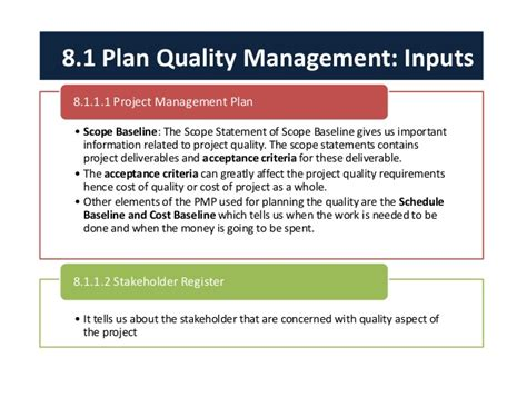 Scope Of Mba In Quality Management by Project Quality Management
