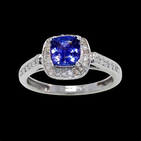 square tanzanite ring