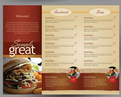 take out menu template sle cafe menu template 18 documents in