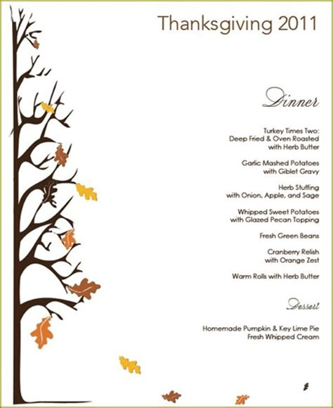 free thanksgiving menu templates thanksgiving menu giveaway centsational