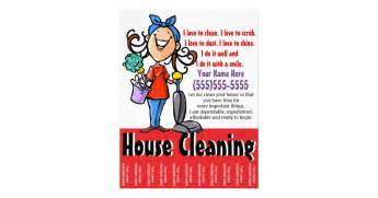 house cleaning marketing flyer zazzle
