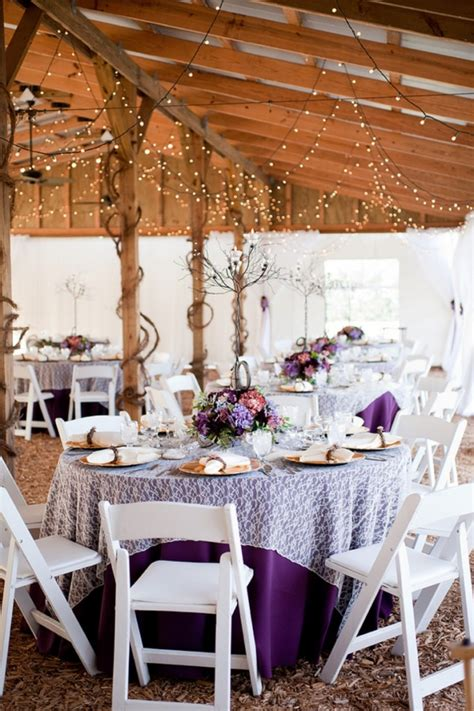 purple rustic chic wedding every last detail