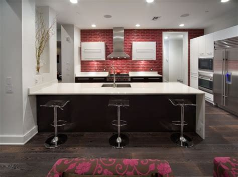 Kitchen Tiles Ideas For Splashbacks Des Id 233 Es De Dosseret Rouge Pour Votre Cuisine Bricobistro