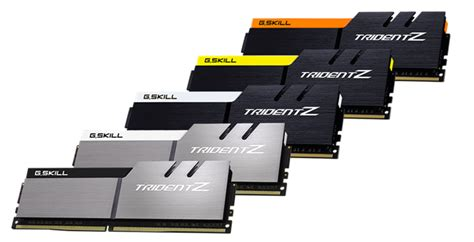g skills ram g skill has 5 new color schemes for trident z series ddr4