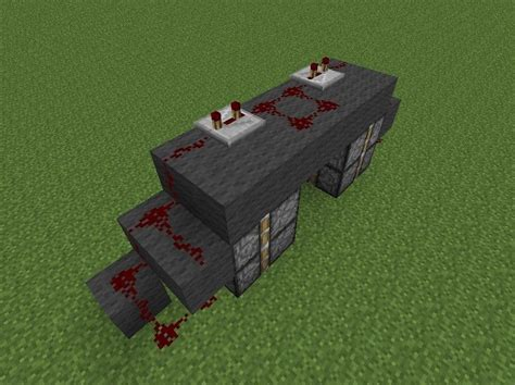 How To Make A Redstone Door by How To Create The Most Compact 2x2 Piston Door In 50 Seconds 171 Minecraft