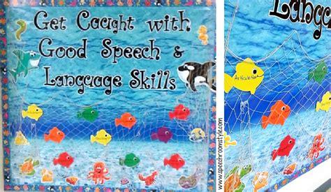 theme for language art show 2015 ocean of fun bulletin board ideas speech room style