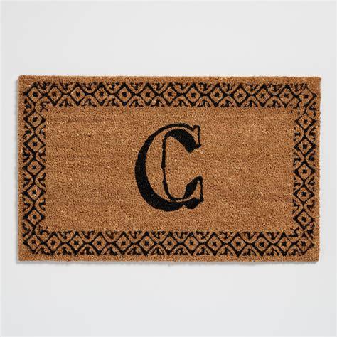 Monogrammed Doormats by C Monogram Coir Doormat World Market