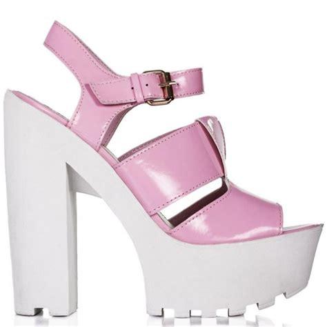 buy fiji block heel cleated sole platform sandal shoes