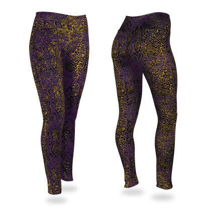 gold pattern leggings post pattern leggings purple gold black zubaz store