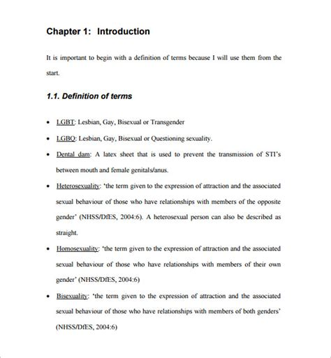 dissertation format dissertation template 14 free sle exle
