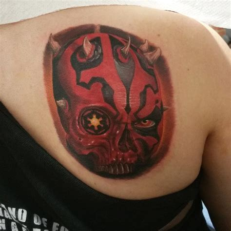 nate beavers tattoo darth maul skull by nate beavers tattoos