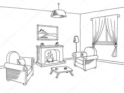 imagenes en negro para estar vector de ilustraci 243 n de chimenea sala de estar interior