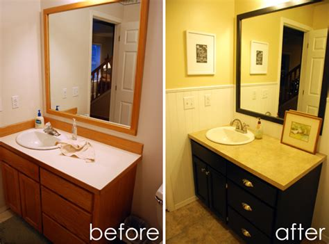 bathroom vanity painting before and after ruby redesign before after bathroom remodel making it