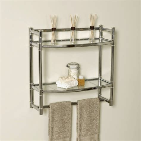 Bathroom Wall Shelves Casual Cottage Bathroom Wall Mounted Shelves