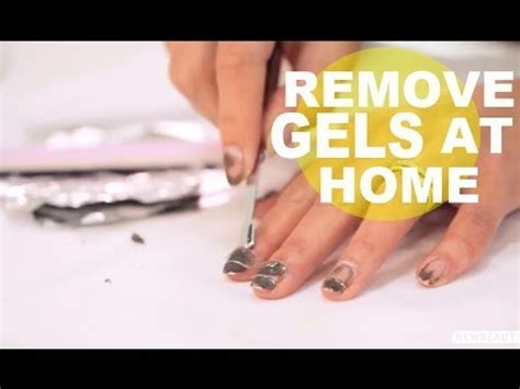 how to remove gel nails at home newbeauty tutorial