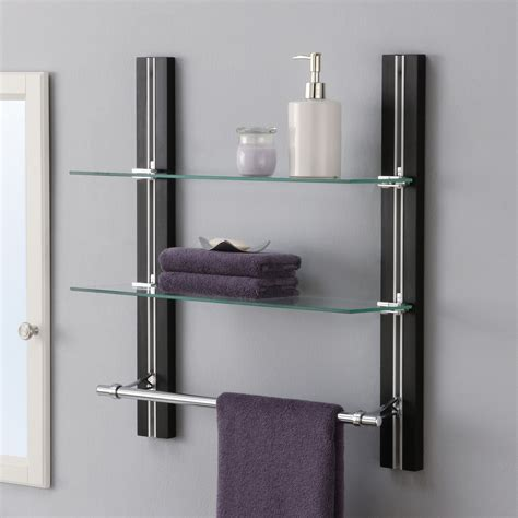 Bathroom Wall Mount Glass Shelf Bathroom Shelves Glass