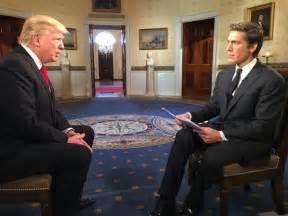 donald trump biography on tv david muir recalls his tense post inauguration interview