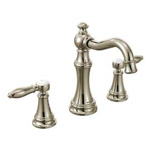 polished nickel bathroom faucets ts42108nl moen premium weymouth series lever handles