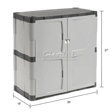 Rubbermaid Plastic Storage Cabinets With Doors Rubbermaid 7085 Plastic Storage Cabinet Base Door 36 Quot W X 18 Quot D X 37 Quot H