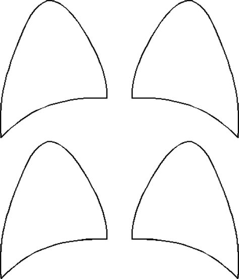 cat ear template cat ears pattern