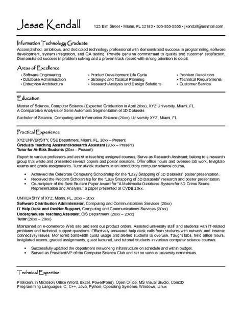 graduate student resume template sle curriculum vitae format for students http www
