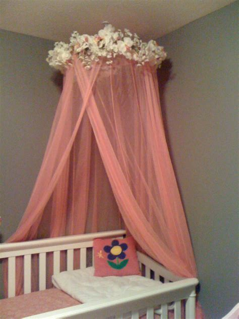 baby bed curtain over crib canopy we re hoping the process doesn t take