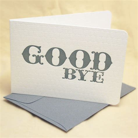 bye bye goodbye farewell letter