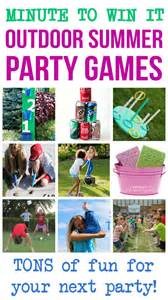 New Backyard Games Minute To Win It Outdoor Summer Party Games Happiness Is