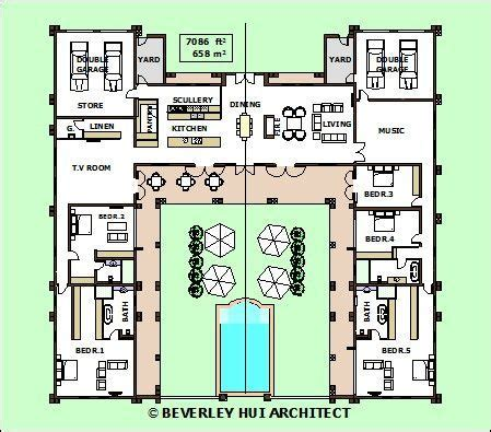 courtyard style house plans 2018 courtyard house plans u shaped contemporary floor plan luxury intended for 20 winduprocketapps
