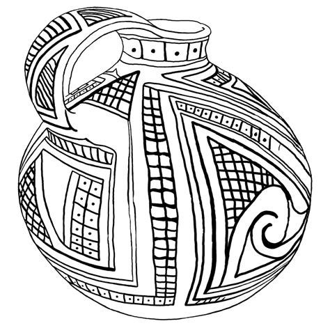 Pottery Coloring Pages free coloring pages of pottery