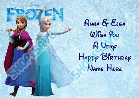 film frozen happy birthday anna personalised frozen anna elsa name age a5 birthday