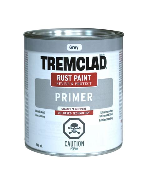 home depot paint with primer reviews tremclad rust primer grey 946ml the home depot canada