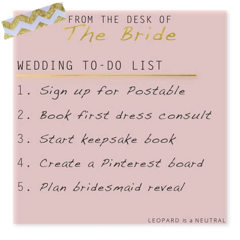 wedding wednesday bride s to do list leopard is a neutral