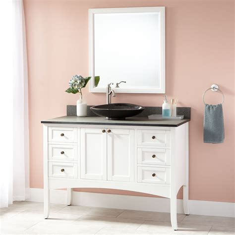 Sink Bathroom Vanities White by 48 Quot Cadmon Vessel Sink Vanity White Bathroom Vanities