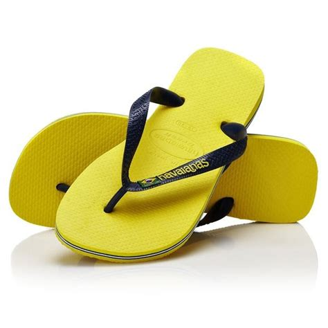 Flip Flops havaianas brasil logo flip flops citrus yellow free uk