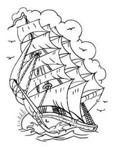 Traditional Ship Tattoo Outline Sketch Coloring Page sketch template