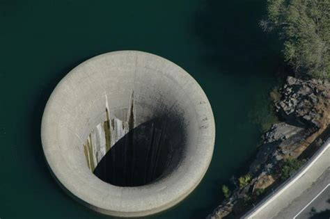 lake berryessa spillway construction bell mouth spillways how giant holes in the water are