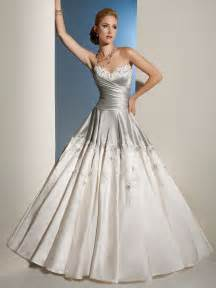 silver wedding dress silver and white draped bodice wedding dress
